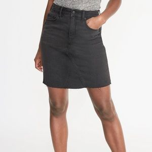 Old Navy Black Stretchy Denim Mini Skirt 10
